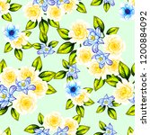 flower print in bright colors.... | Shutterstock . vector #1200884092