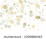 gold silver paper snowflakes... | Shutterstock .eps vector #1200886465