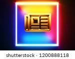 isolated golden icon frame in...