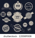 set of retro vintage labels ... | Shutterstock .eps vector #120089008