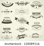 calligraphic design elements... | Shutterstock .eps vector #120089116