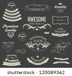 calligraphic design elements... | Shutterstock .eps vector #120089362