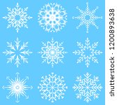 collection of artistic icy... | Shutterstock . vector #1200893638