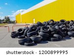 damaged tires after high speed... | Shutterstock . vector #1200899995