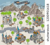 medieval middle age map... | Shutterstock .eps vector #1200901618