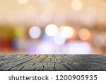 wooden table in front of... | Shutterstock . vector #1200905935