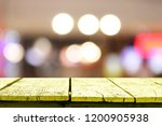 wooden table in front of... | Shutterstock . vector #1200905938