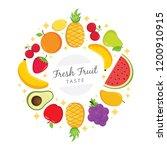 fresh fruit taste background ... | Shutterstock .eps vector #1200910915