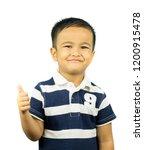 cheerful little asian boy...   Shutterstock . vector #1200915478