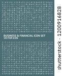 business vector icon set | Shutterstock .eps vector #1200916828