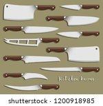 kitchen knife weapon steel | Shutterstock .eps vector #1200918985