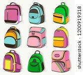 colored teenager school... | Shutterstock .eps vector #1200919318