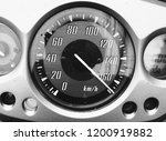 Speedometer On Motorcycle With...