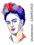 magdalena carmen frida kahlo ... | Shutterstock .eps vector #1200921922