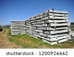 railroad concrete sleepers... | Shutterstock . vector #1200926662