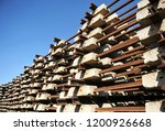railroad concrete sleepers... | Shutterstock . vector #1200926668