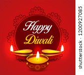 happy diwali diya oil lamp... | Shutterstock .eps vector #1200927085