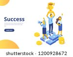 team success vector concept.... | Shutterstock .eps vector #1200928672