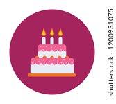 birthday cake vector icon   Shutterstock .eps vector #1200931075