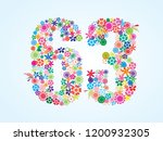 vector colorful floral 63... | Shutterstock .eps vector #1200932305