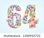 vector colorful floral 64... | Shutterstock .eps vector #1200932722