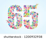 vector colorful floral 65... | Shutterstock .eps vector #1200932938