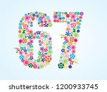 vector colorful floral 67... | Shutterstock .eps vector #1200933745