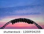 silhouette of people having fun ...   Shutterstock . vector #1200934255