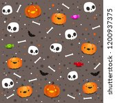 seamless pattern of funny... | Shutterstock .eps vector #1200937375