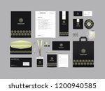 Stock vector corporate identity set template design stationery kit branding template editable with abstract 1200940585