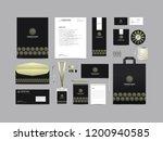 corporate identity set template ... | Shutterstock .eps vector #1200940585
