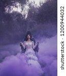 dark queen in a white vintage... | Shutterstock . vector #1200944032