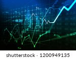 stock market or forex trading... | Shutterstock . vector #1200949135
