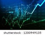 stock market or forex trading... | Shutterstock . vector #1200949135