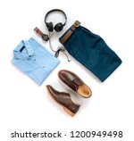 men's casual outfits for man... | Shutterstock . vector #1200949498