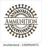 ammunition arabesque emblem... | Shutterstock .eps vector #1200964072