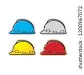 isolated safety helmet... | Shutterstock .eps vector #1200967072