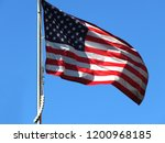 national flag of america on a... | Shutterstock . vector #1200968185