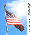 national flag of america on a... | Shutterstock . vector #1200968248