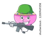 army character a bowl of... | Shutterstock .eps vector #1200969358