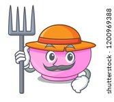 farmer character a bowl of... | Shutterstock .eps vector #1200969388
