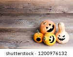 Halloween Pumpkins With Funny...