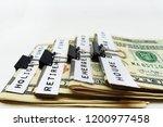 money saving goals   four... | Shutterstock . vector #1200977458
