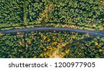 aerial view of a car on the... | Shutterstock . vector #1200977905