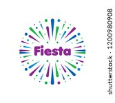 abstract logo for the fiesta.... | Shutterstock .eps vector #1200980908
