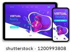 template website isometric...   Shutterstock .eps vector #1200993808