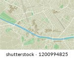 vector city map of florence... | Shutterstock .eps vector #1200994825