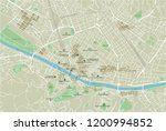 vector city map of florence... | Shutterstock .eps vector #1200994852