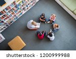 teacher reading fairy tales to... | Shutterstock . vector #1200999988