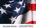 american flag close up   Shutterstock . vector #1201007902